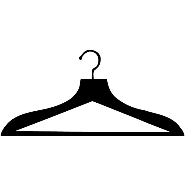 Hanger clipart wire hanger. Silhouette at getdrawings com