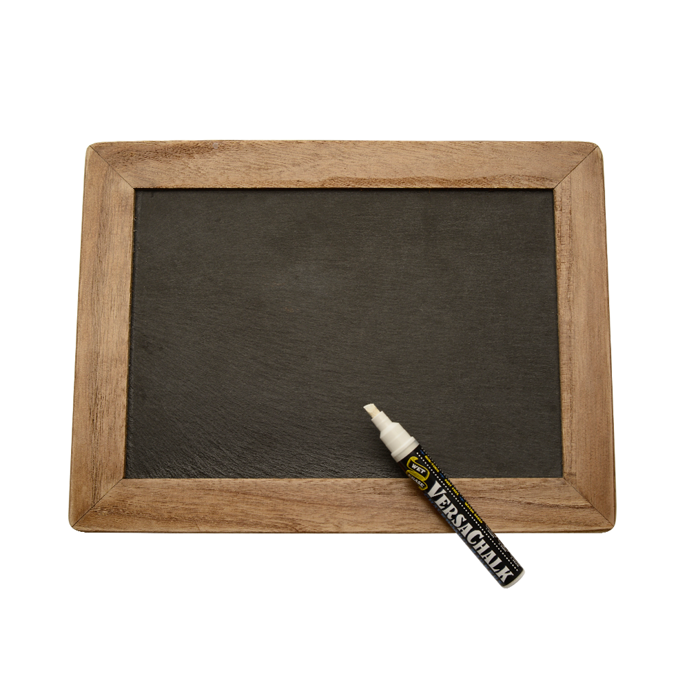 chalkboard transparent rustic wood framed
