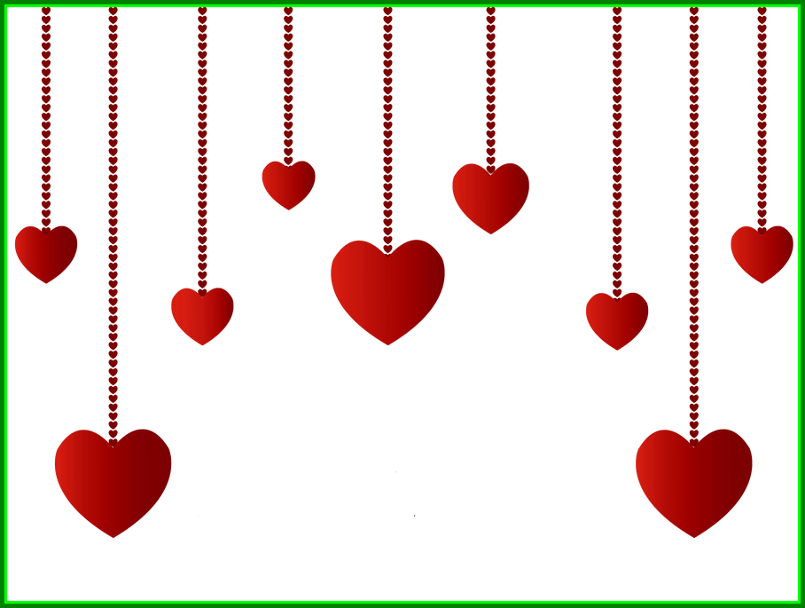 Hanging clothes clipart png. Awesome hearts decoration picture