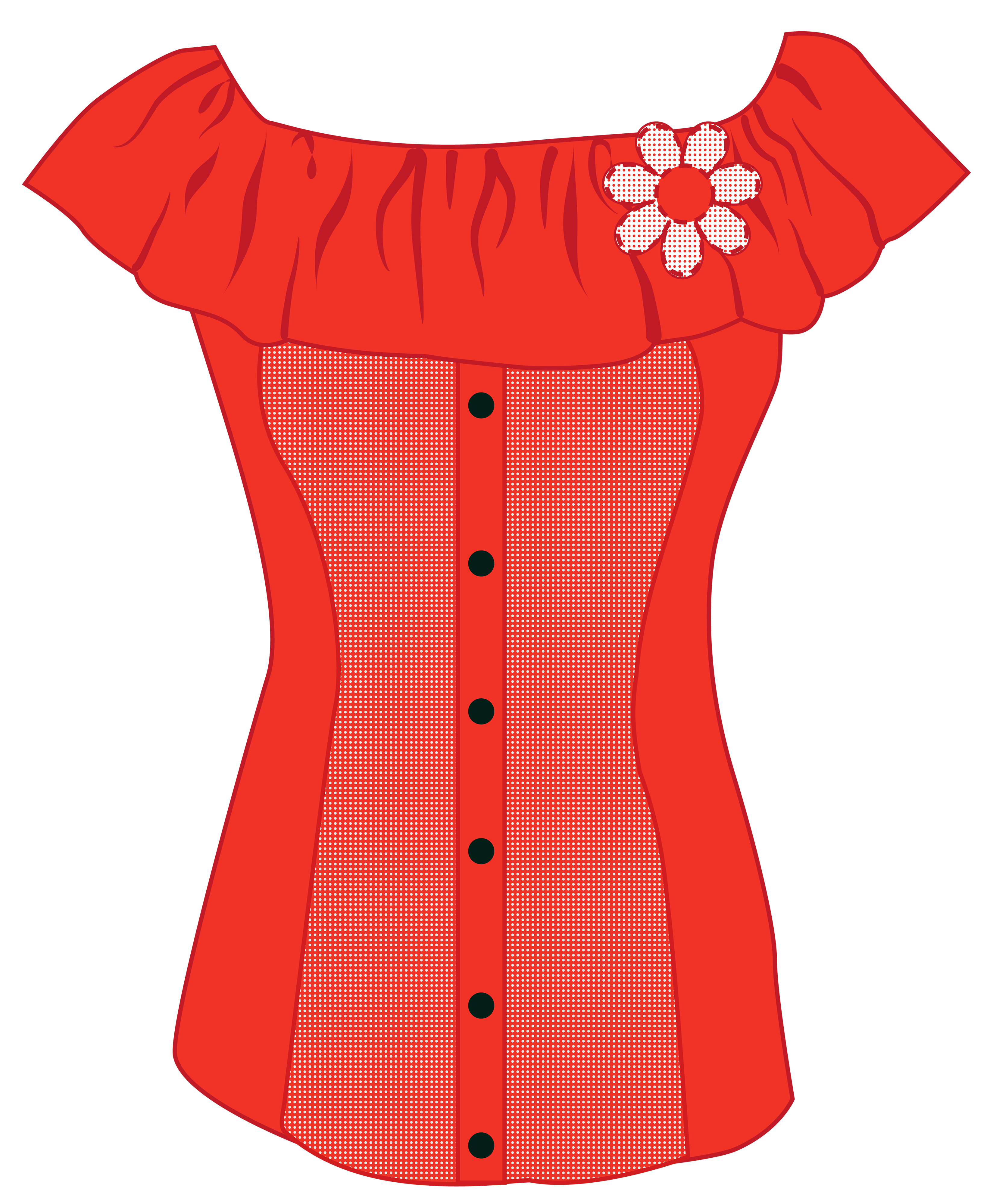 Hanging clothes clipart png. Female red top best