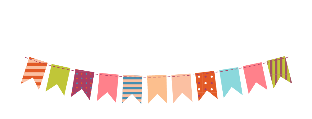 Bunting vector lace. Paper party clip art