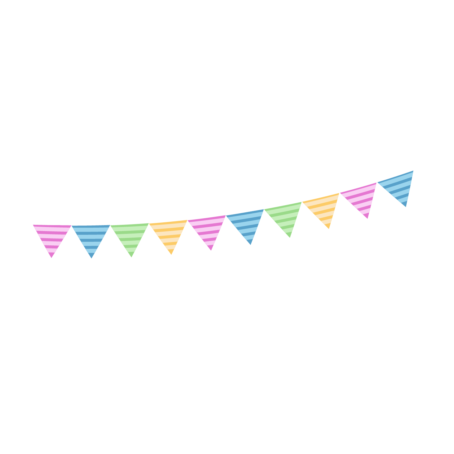 Party decoration png. Birthday icon hanging flag