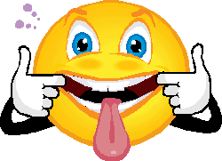 Hanging out with clipart. Smiley tongue sticking group