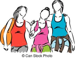 Vector clip art eps. Hanging out with clipart png library download