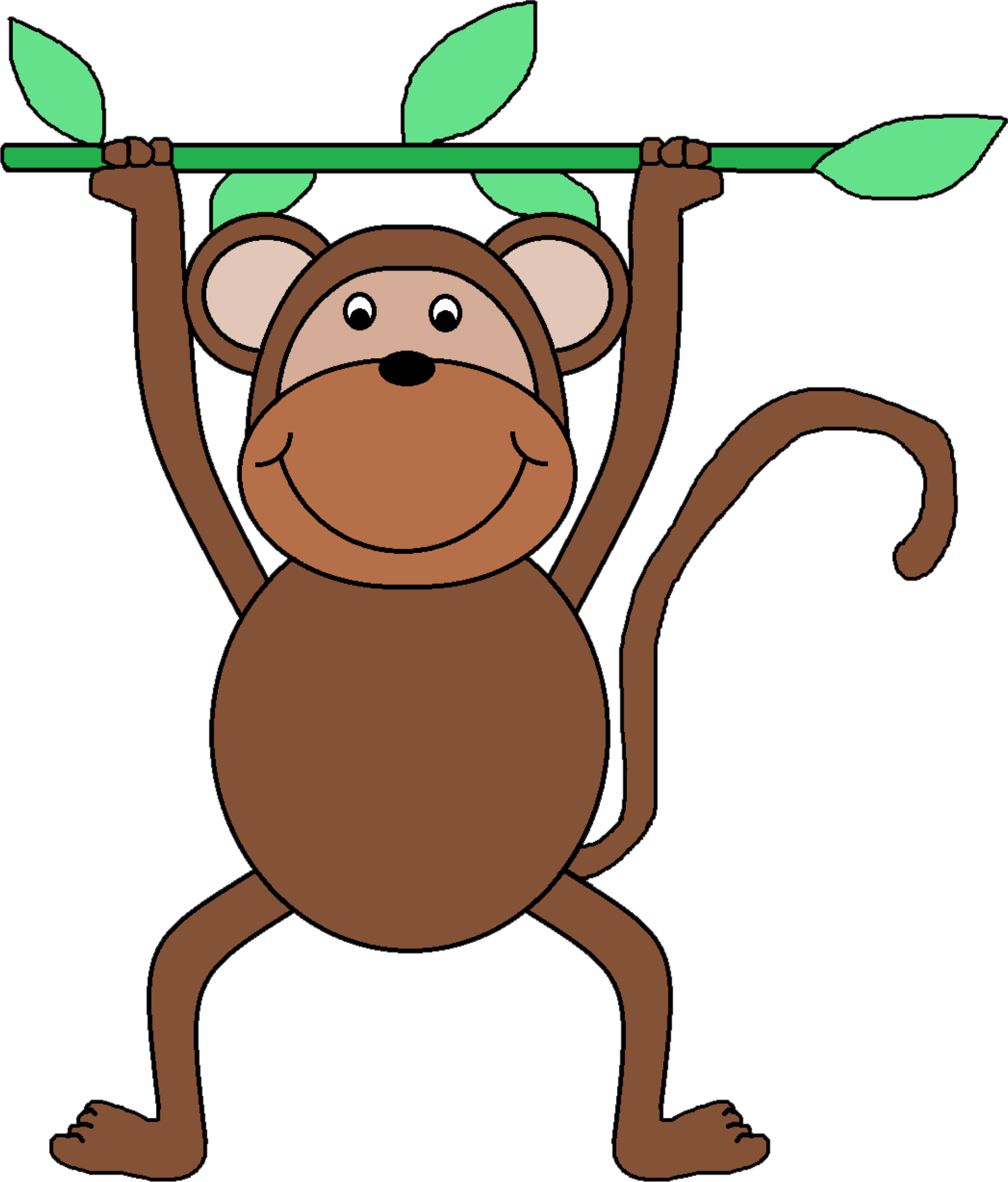 Hanging out with clipart. Monkey clip art by