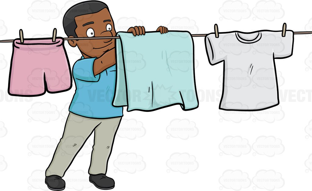 A cheerful black man. Hanging out with clipart cartoon picture black and white