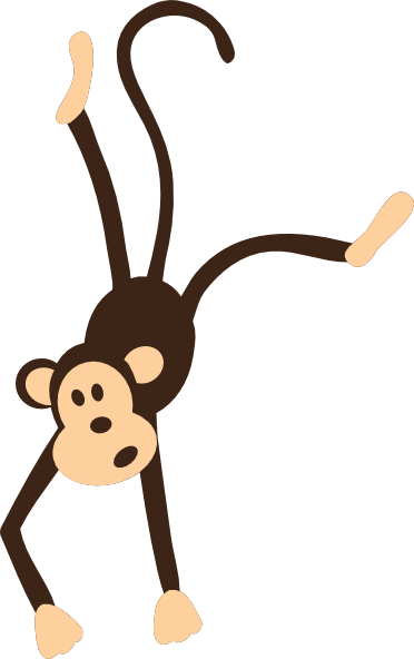 Monkey clipart vector. Free hanging download clip