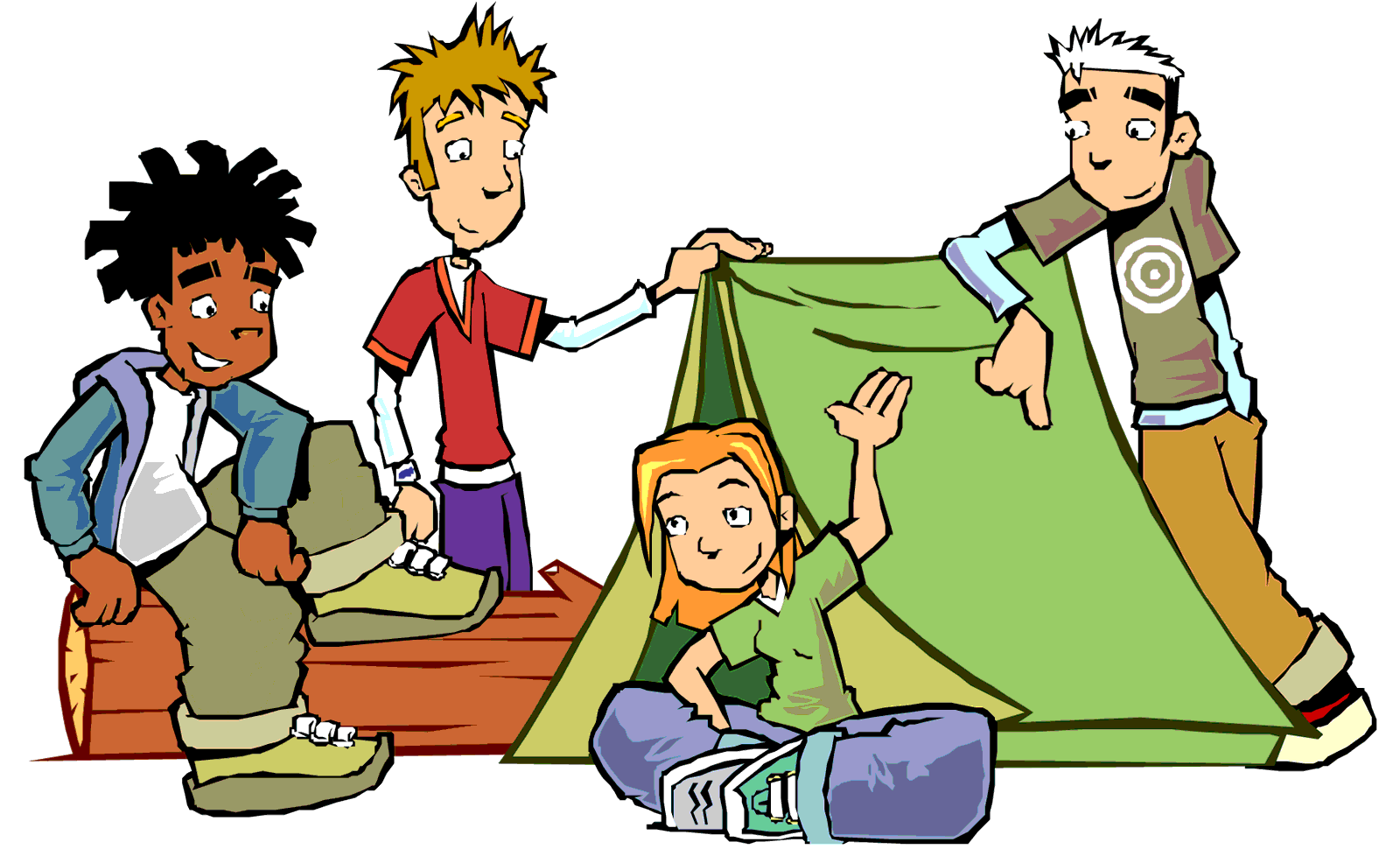 Hanging out with clipart cartoon. Camping panda free images