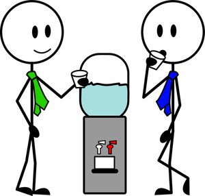 Hanging out with clipart cartoon. Water cooler image office
