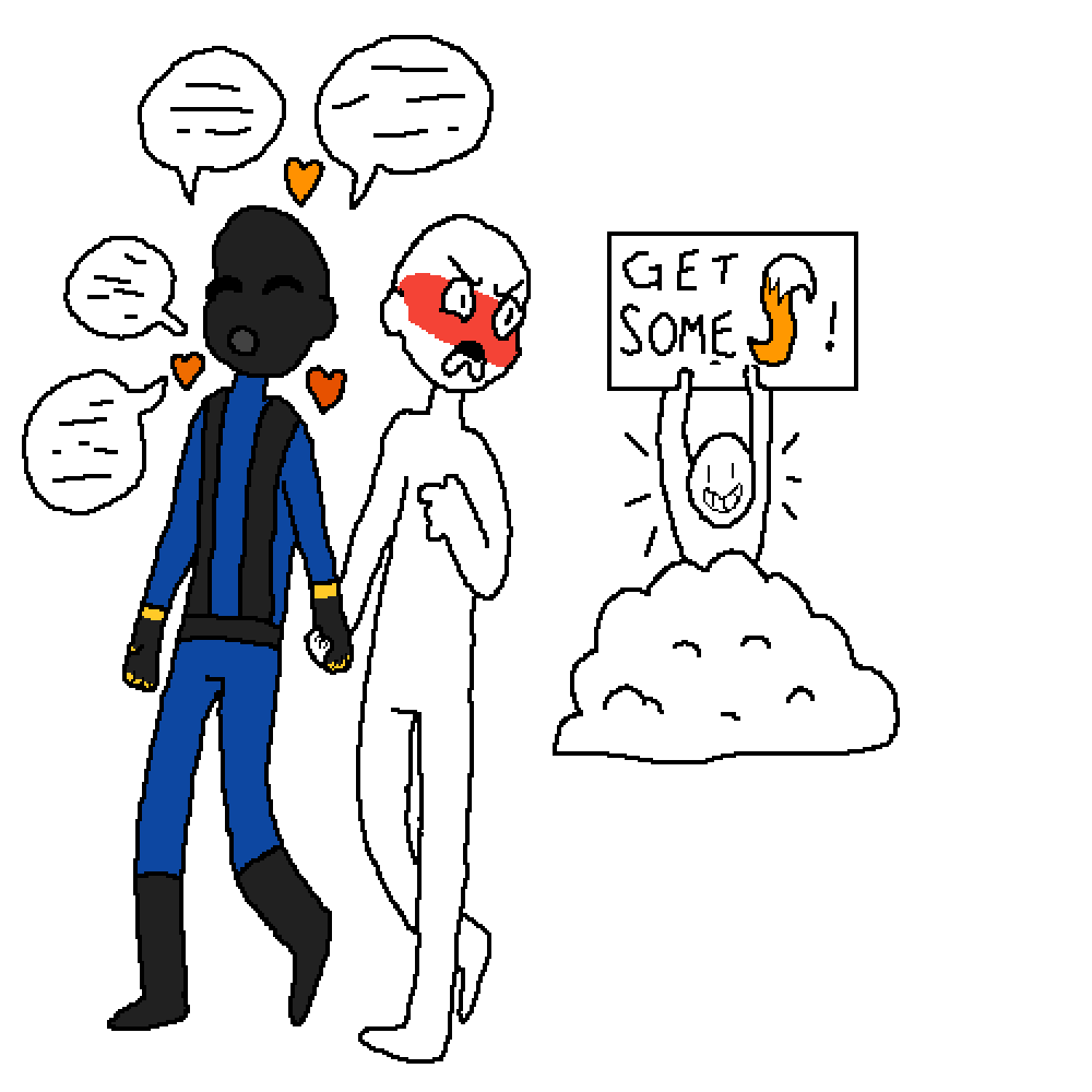 Hanging out with clipart drawing. Pixilart wanna hang pyro