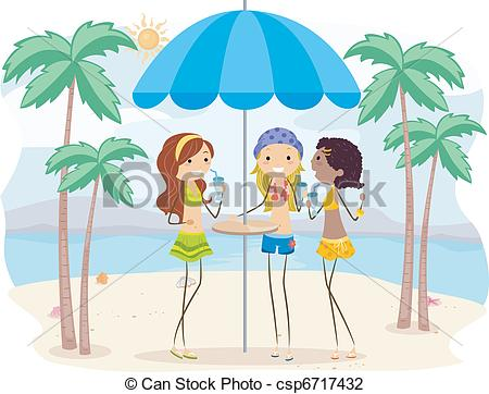 Hanging out with clipart drawing. Beach hang illustration of picture library download