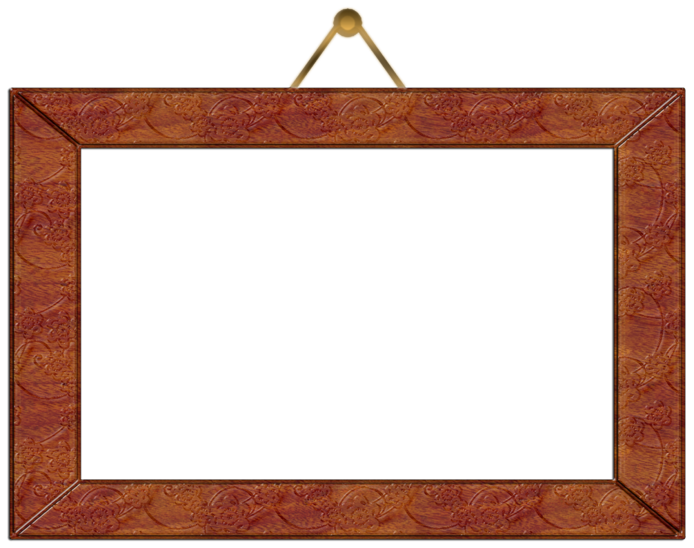 Hanging picture frame png. Wooden wall by gautamdas