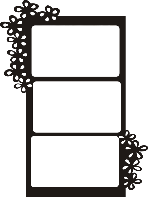 Hanging picture frame png. Floral wall personalized photo