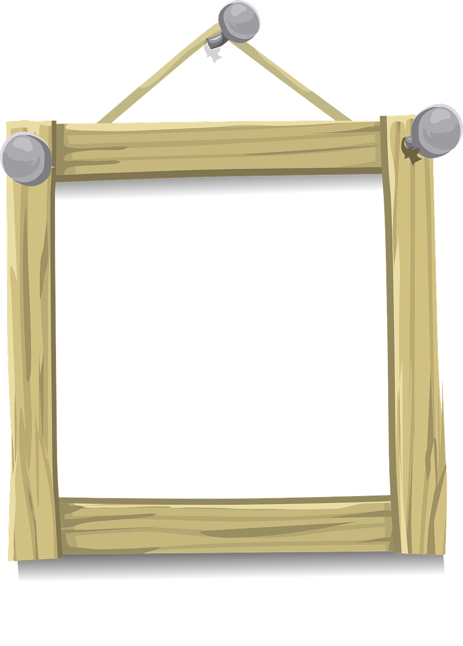 Hanging picture frame png. Frames wood photo hang
