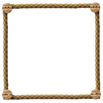 Hanging picture frame png. Rope transparent stickpng