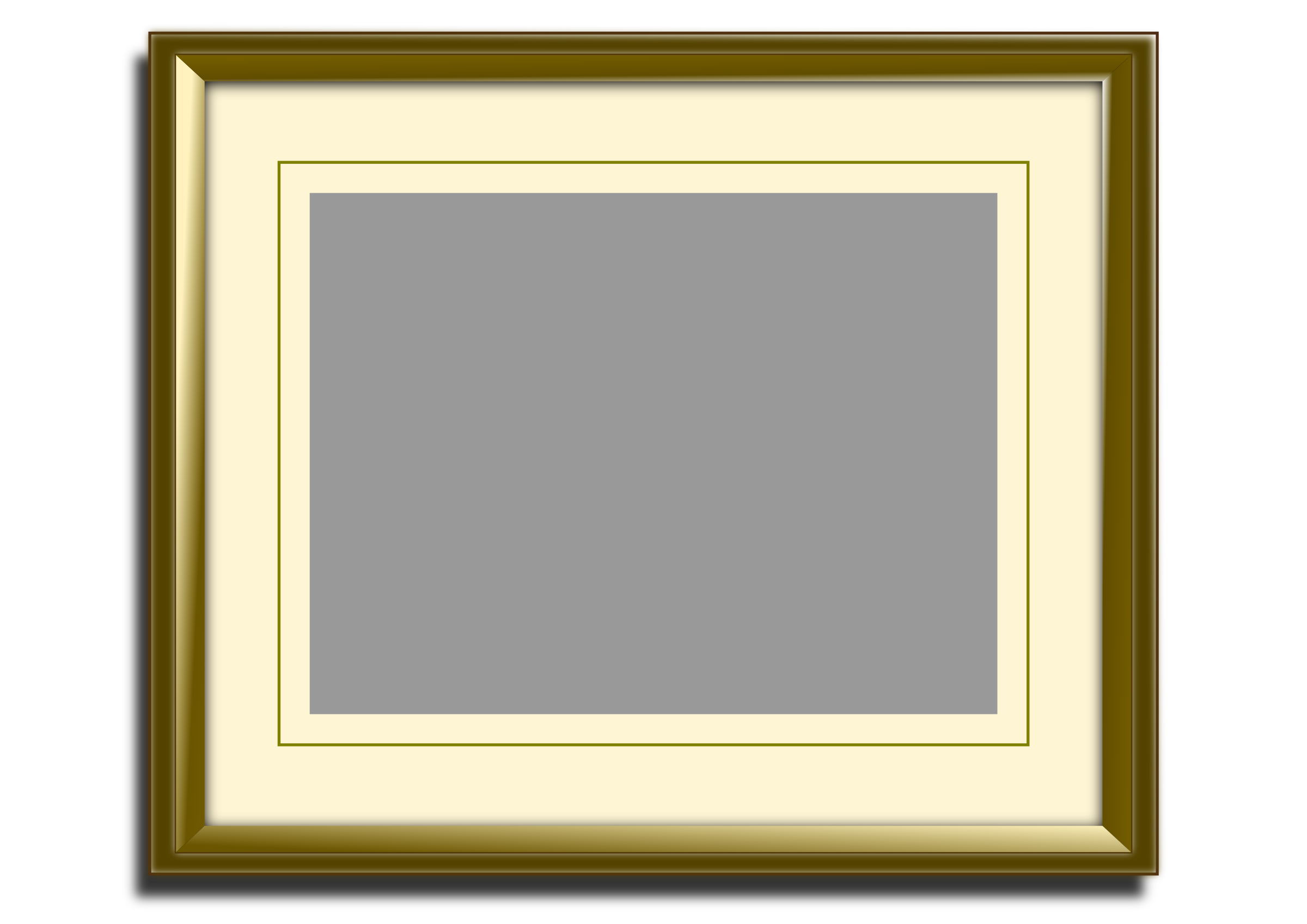 Hanging picture frame png. Golden icons free and