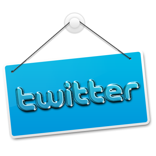 Hanging sign png. Twitter icon clipart image