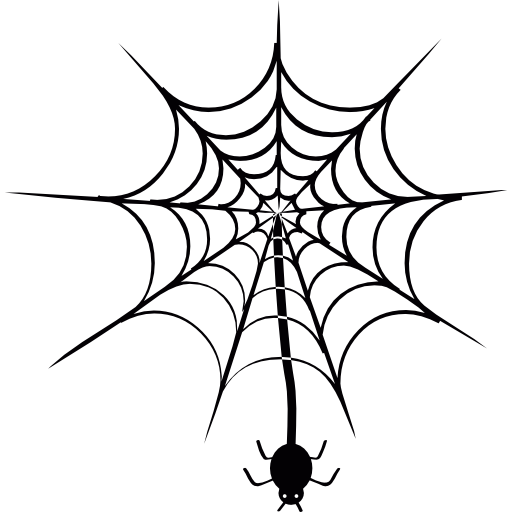 Spider hanging png. Of web free animals