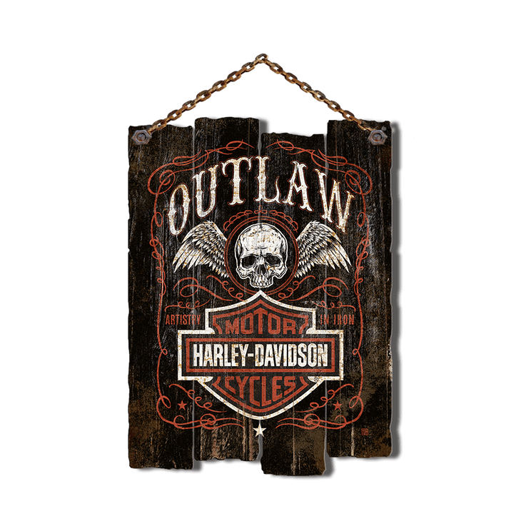 Hanging wooden sign png. Harley davidson chain outlaw