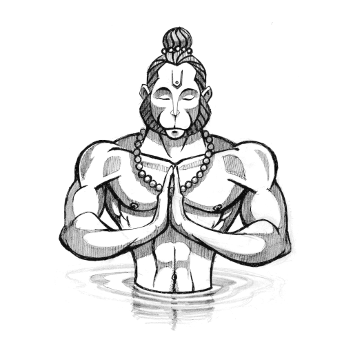 Hanuman drawing. Ji wordzz hanumanji