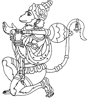 Hanuman drawing cartoon. In search of hanum