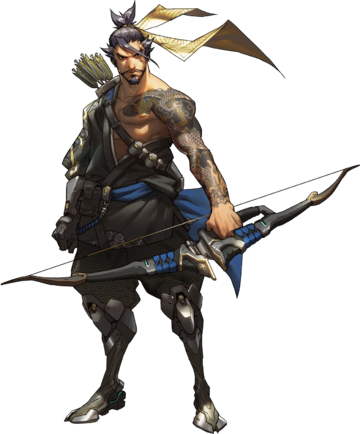 Hanzo tattoo png. Animated video games muscle