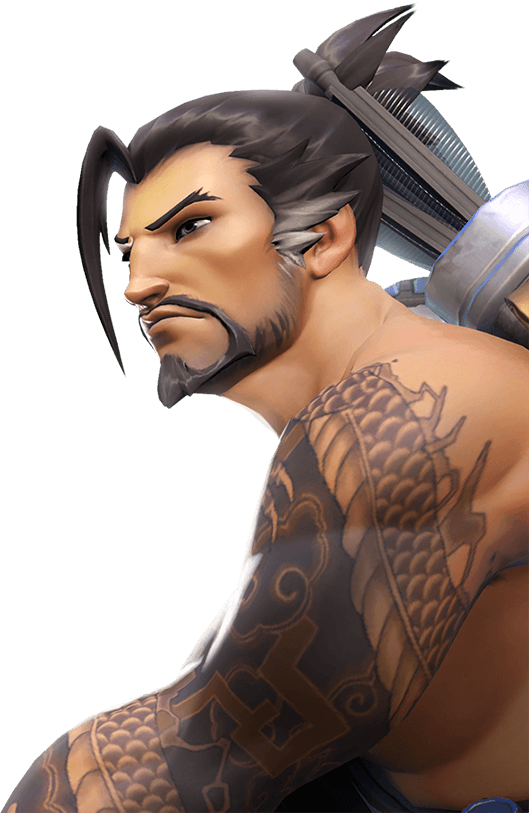 Hanzo tattoo png. Shimada showing his handsome