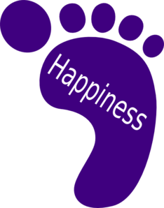Happiness clipart bluebird happiness. Right foot clip art