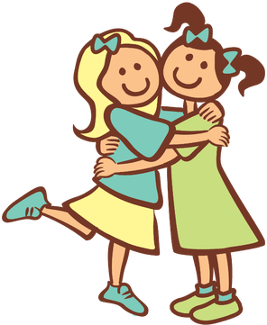 Happiness clipart deaf child. Here a friend there