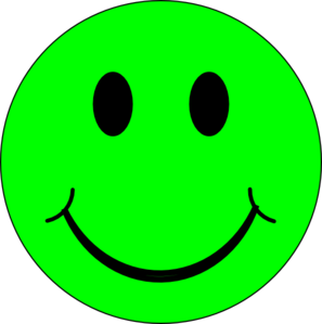 Happiness clipart vector. Happy green face clip