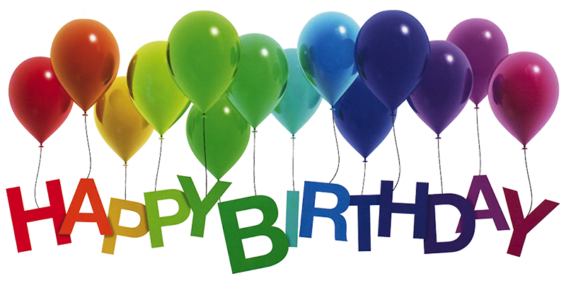 Rainbow by lilyas on. Happy birthday balloons png png stock