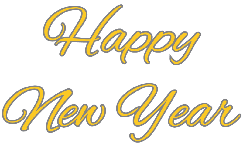 New year clip art png. Happy clipart hd pic