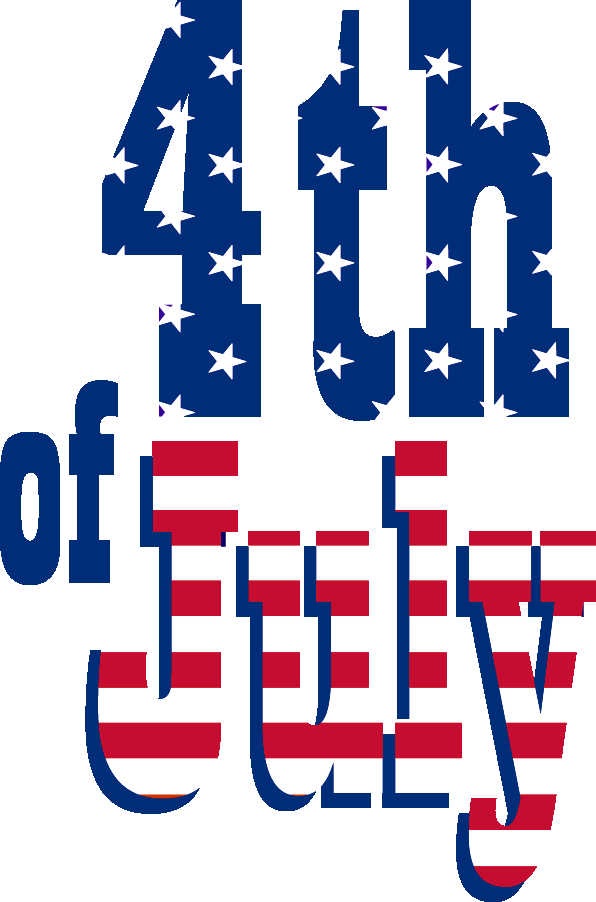 Happy 4th of july png. Fourth text transparent stickpng