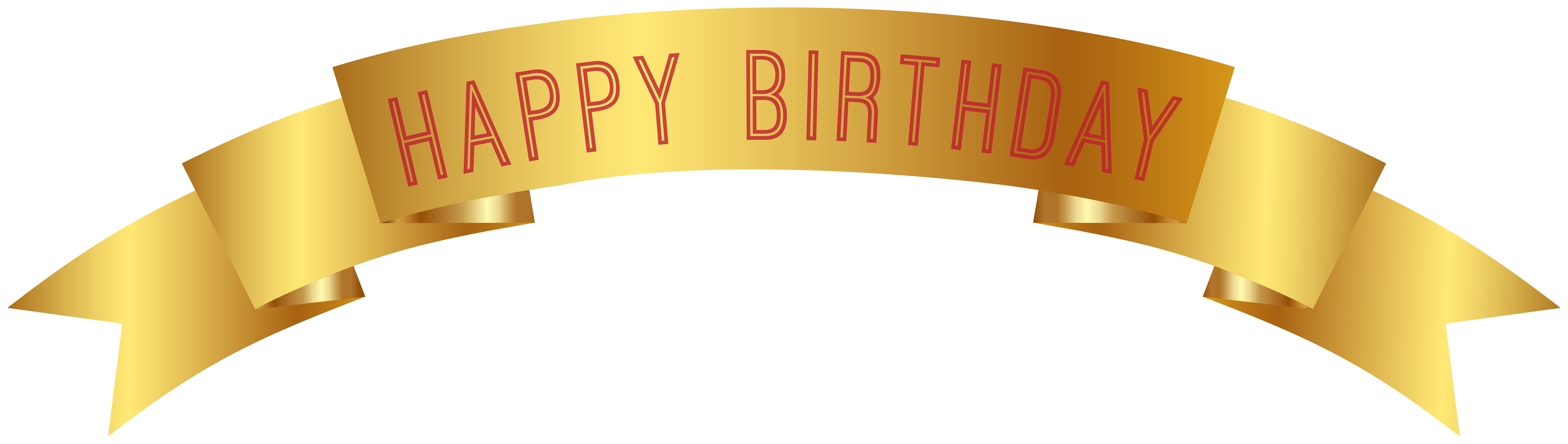 Gold banner clip art. Png happy birthday png transparent library