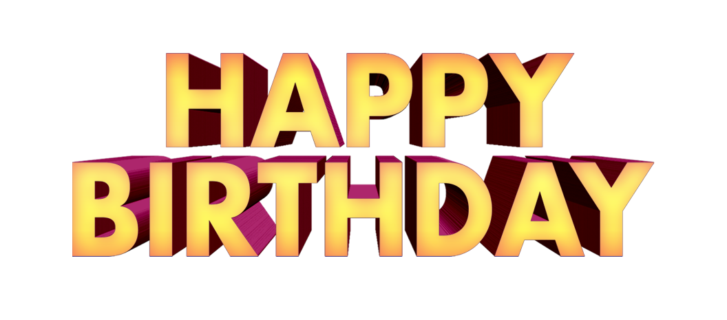 Happy birthday 3d png. Text d free downloads