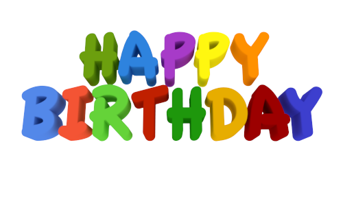 Happy birthday 3d text png. D word illustrations free