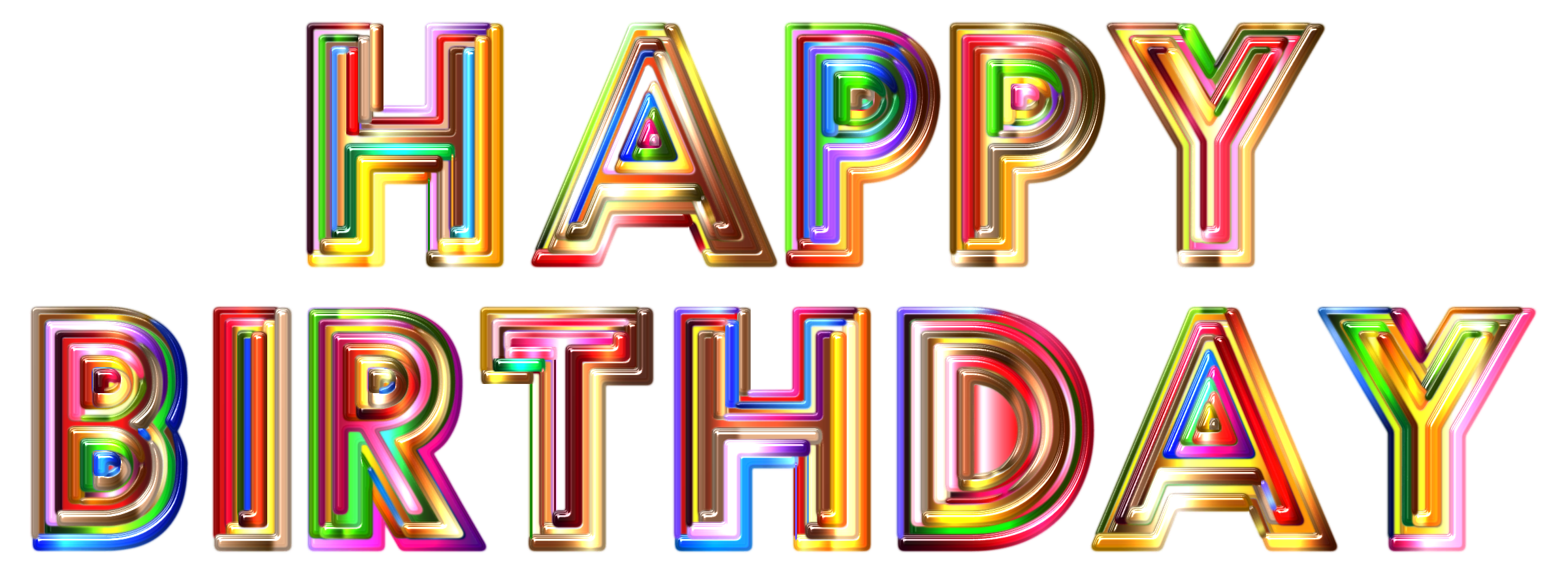 Happy birthday 3d text png. Transparent pictures free icons