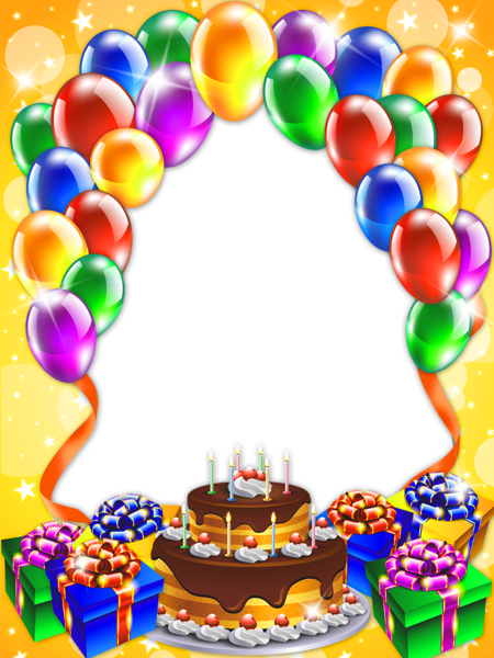Transparent frame frames borders. Happy birthday background png graphic free library