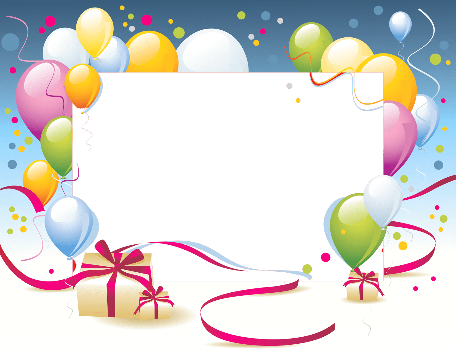 Happy birthday background png. Card template transparent stickpng