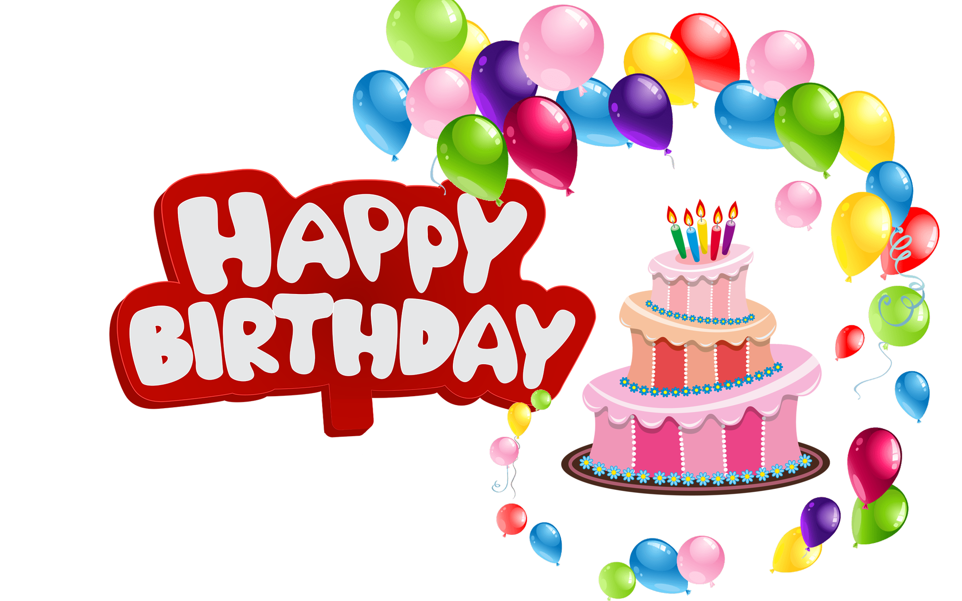 Names. Happy birthday balloons png clipart free library