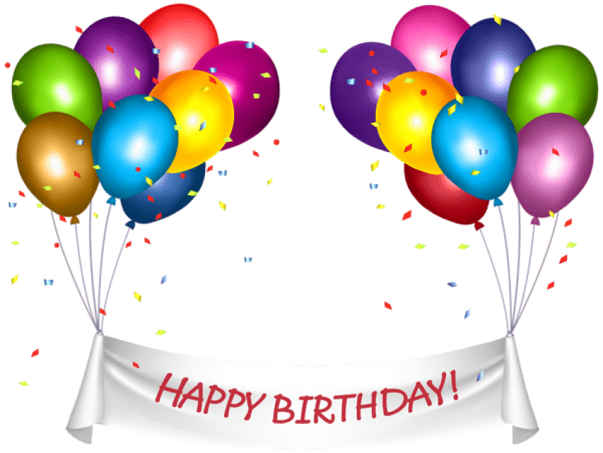 Happy birthday banner background png. Download transparent and baloons