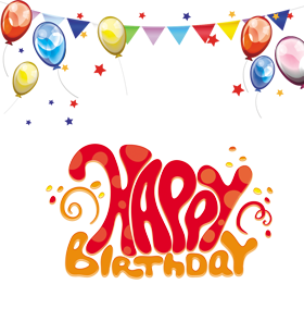 Happy birthday banner background png. Design elements free a