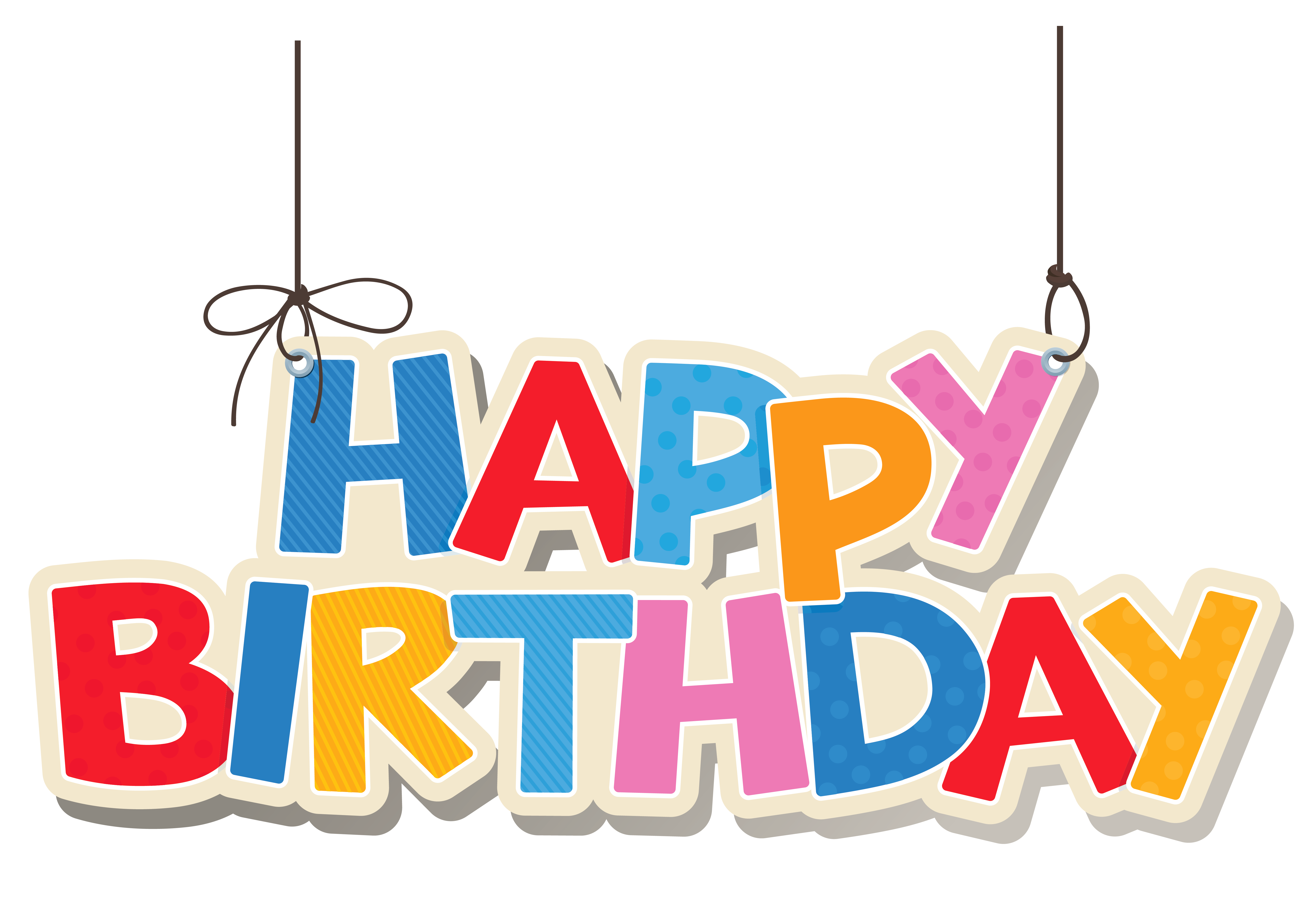 Happy birthday banner background png. Hanging colorful clipart picture