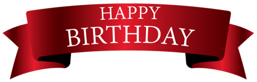 Download red images toppng. Happy birthday banner background png clip art black and white stock