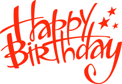 Happy birthday logo png. Banner clipart free more