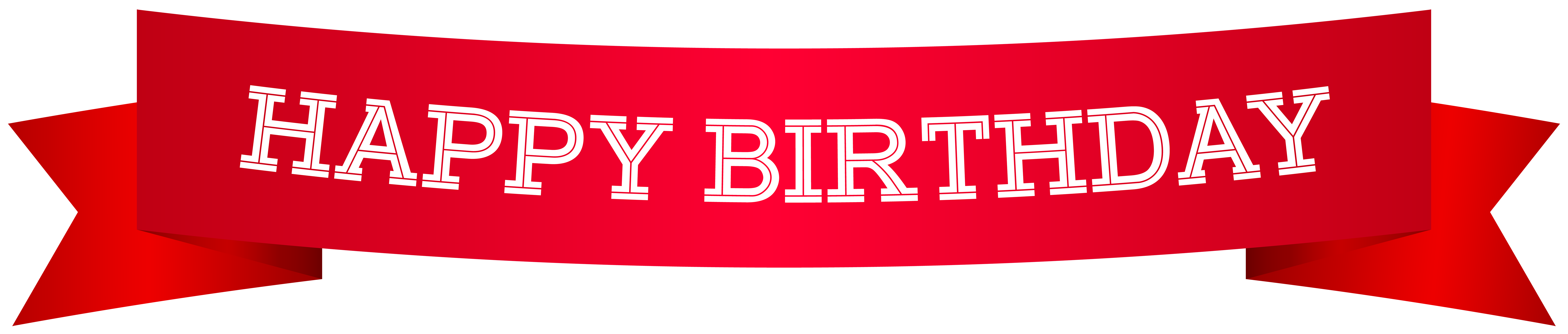Happy birthday banner png. Red clip art image