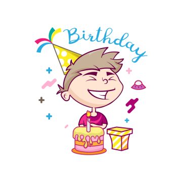 Happy birthday boy png. Vectors psd and clipart