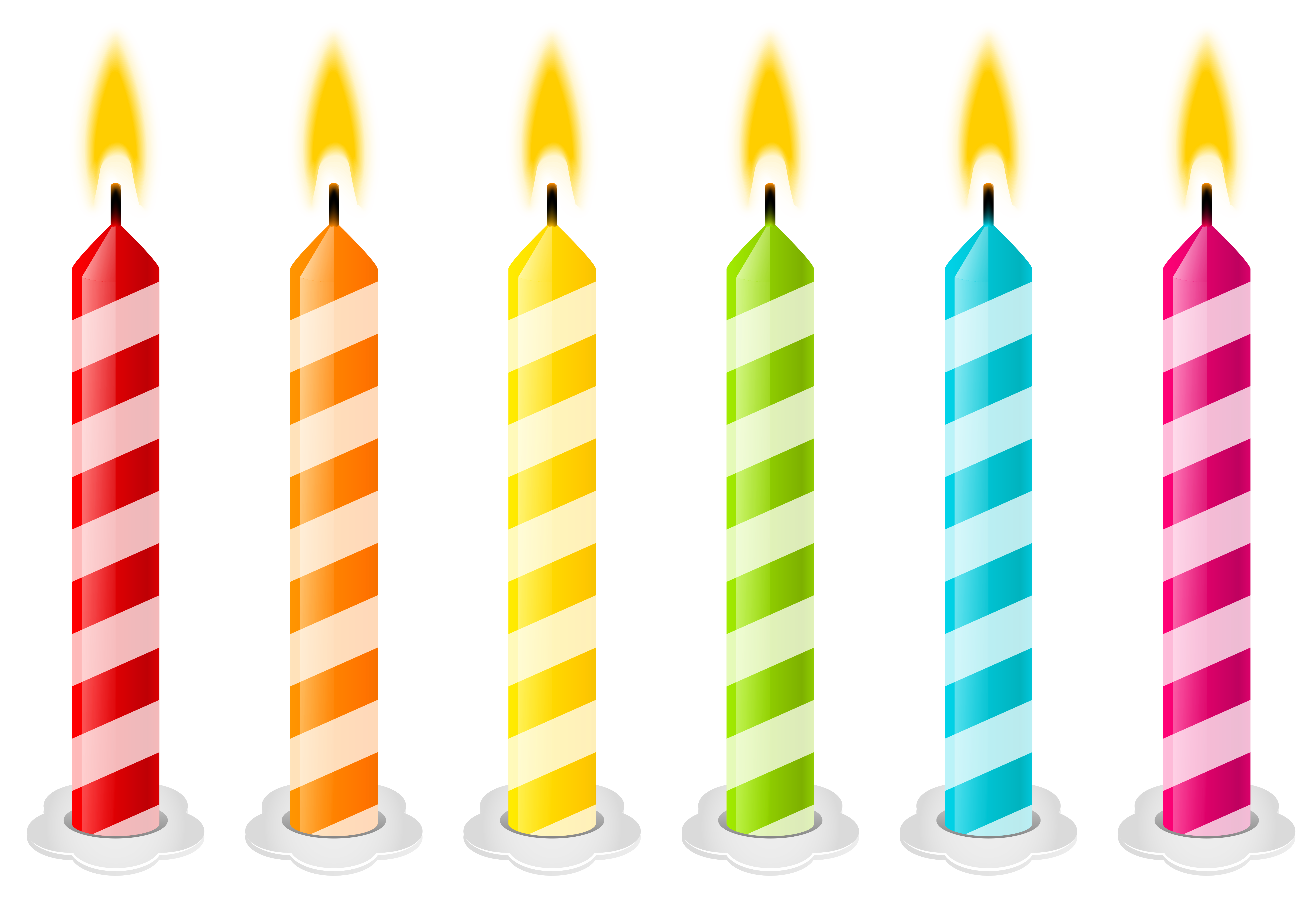 Happy birthday candles png. Vector clipart image pinterest