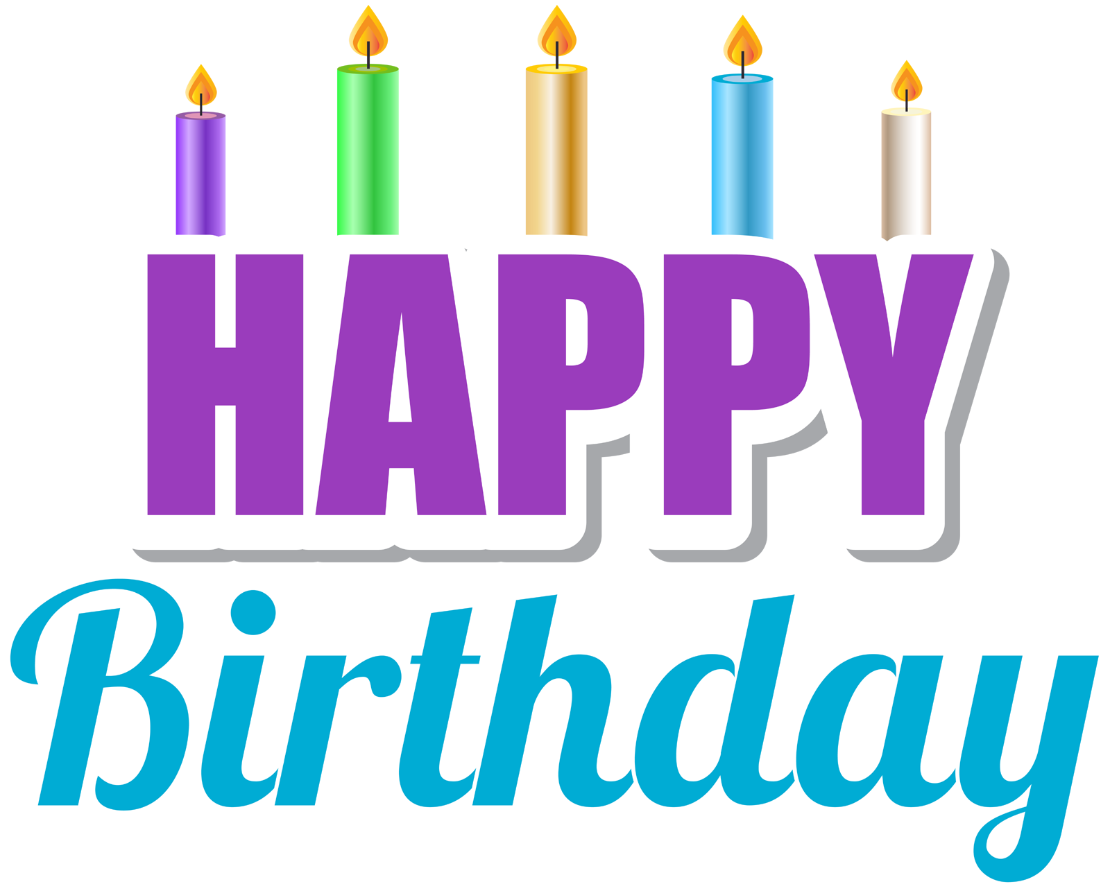 Happy Birthday Candles Png Design Elements Free With Image Library