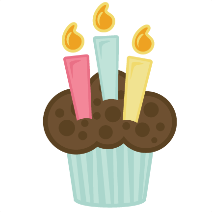 Happy birthday cupcake png. With candles svg file